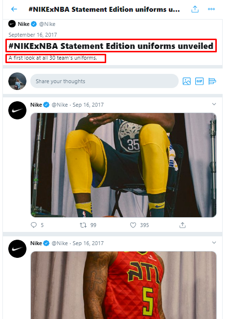 twitter moment by nike