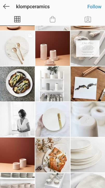 klomp ceramics instagram