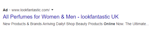 ecommerce ad on google