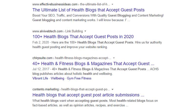 healthcare guest blogging