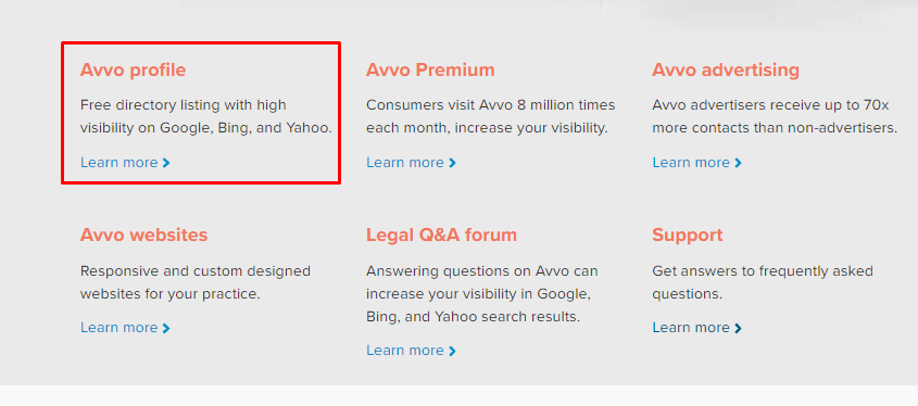 avvo marketplace of lawyers