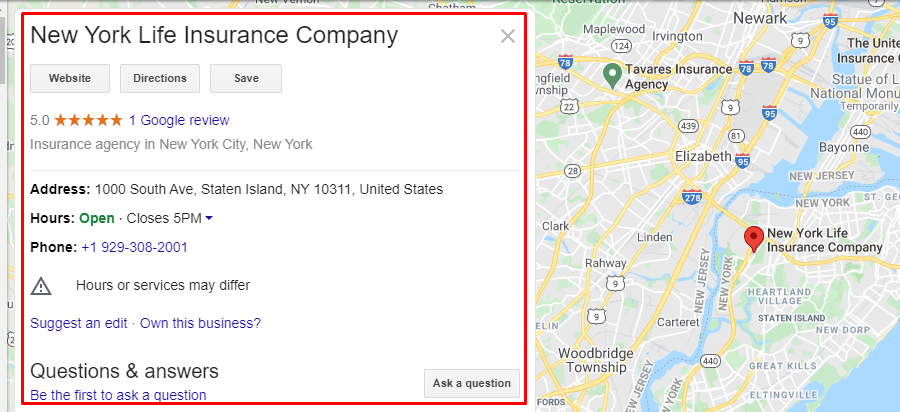 reviews are part of seo for insurance