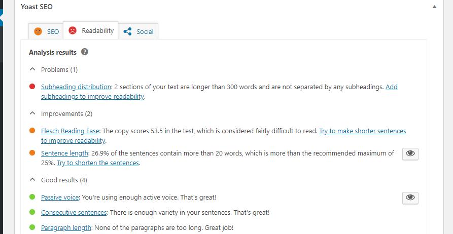 improve blog post readability