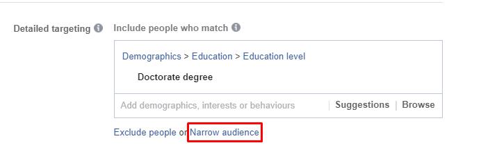narrow audience